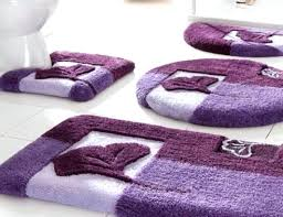 outstanding bathroom rugs set rug sets fl patterned purple on white floor canada full size