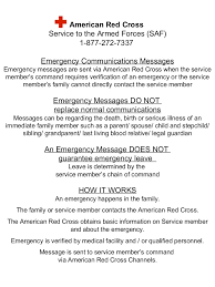 american red cross information sheets