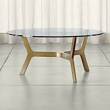 brass and glass coffee table. Elke Round Glass Coffee Table With Brass Base And