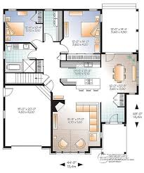 bungalow house plans. 1st Level Ranch Bungalow House Plan, With Galley Kitchen, Open Floor Plan Concept, Plans G