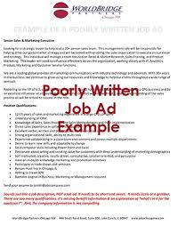 Travel Agent Job Description Classy Outdated Job Description And Ad WorldBridge Partners Chicago NW