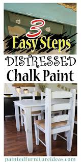 3 easy steps to distressing with chalk paint