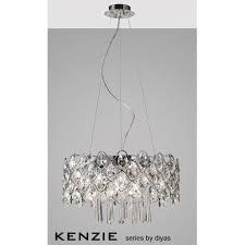 diyas il31061 kenzie 10 light crystal