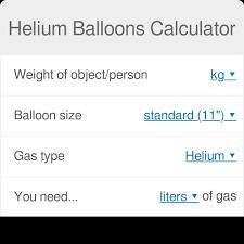 Helium Balloons Calculator Omni