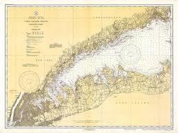 1934 Nautical Chart Of Long Island Sound