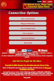 mcdonalds wifi connect