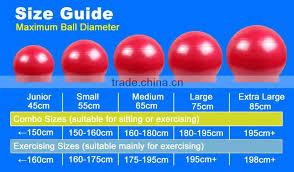 Body Ball Size Chart 2016 Balls Inflation Pump Pilates Ball Logo 75cm Anti Burst