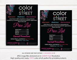 Color Street Price List Color Street Price Chart Color