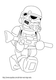 Star Wars Coloring Pages Stormtrooper Lego Kid Crafts Lego