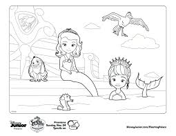 Small Picture Sofia the mermaid Print out and color away Crafts Activities