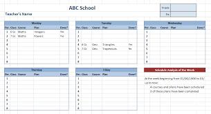 10 Free Teacher Schedule Templates Ms Word Excel Pdf