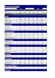 Personal Excel Budget Personal Budget Excel Template Templates At