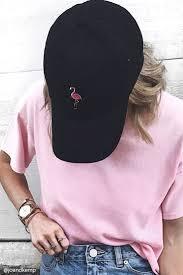 <b>Flamingo</b> Embroidered Dad Cap   <b>Outfits</b> with hats, <b>Baseball</b> cap ...