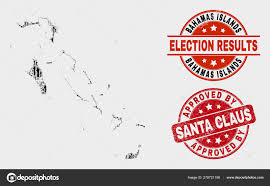 Santa Watermark Collage Of Poll Bahamas Islands Map And Grunge Approved By