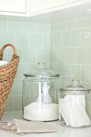 green glass subway tile white green laundry room with green glass subway tiles white shaker kitchen green glass subway tile