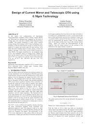 Ota Circuit Design Design Of Current Mirror And Telescopic Ota Using 0 18 M