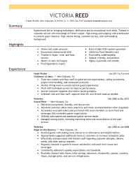 Server: Resume Example