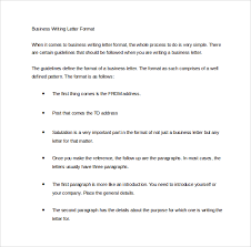 Business Writing Letter Format