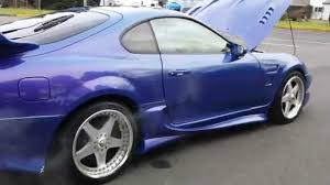 1997 toyota supra twin turbo VEILSIDE Wide body kit 6 speed - YouTube