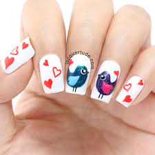 Valentine's Day Love Birds Nail Art & Tutorial: Feat. piCture ...