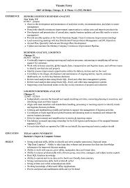 Logistics Analyst Resume Sample Logistics Business Analyst Resume Samples Velvet Jobs 14