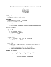 Resume Format With Work Experience 0 Experienced For Software