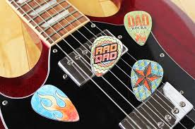 dad will be stoked when he sees the rocking guitar picks you personalized for him this