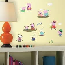 Peppa Pig Bedroom Decor Roommates 5 In W X 115 In H Peppa The Pig 28 Piece Peel And