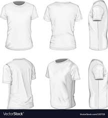 Short Templates Mens White Short Sleeve T Shirt Design Templates Vector Image