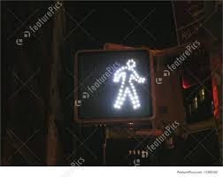 Walking Sign Light Walking Traffic Sign Cross Walk Light Walking Traffic Sign New York