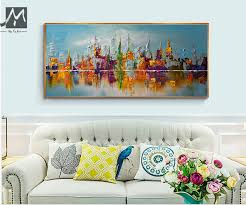 large canvas wall art abstract modern decorative pictures new york city oil painting on canvas for