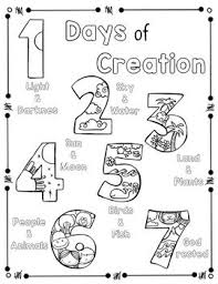 Days Of Creation Coloring Page And Handwriting Practice Sunday