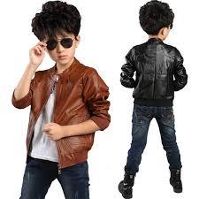 korean fashion boy s pu leather zipper jacket spring autumn 3 15