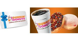 dunkin donuts gift card amount photo 1