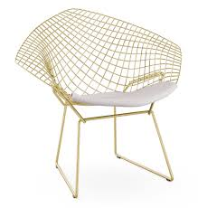 in the 1950s when most chairs were made of rigid wood the harry bertoia furniture line with welded wire and a springy feel were totally innovative