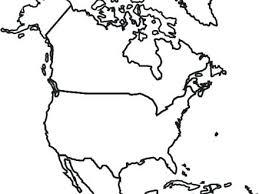 North America Coloring Sheet North America Coloring Map North