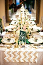 mirror runners for tables a gold sequined table runner with white chevron pattern for an elegant