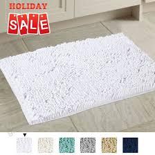 h versailtex pure white bath rug super soft microfiber non slip mat absorption gy shower