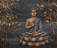 Papel de parede Golden Sitting Buddha ...