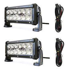jeep commando car truck fog driving lights 2x 36w 7 inch spot led work light bar offroad jeep grill 4x4 boat wiring fits jeep commando