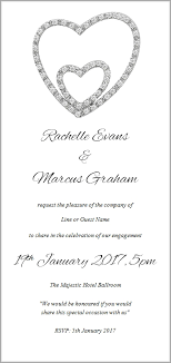 wedding invitations with hearts engagement invitations engagement invites from 99c