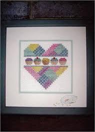 Caron Watercolours Chart Cupcake Heart A
