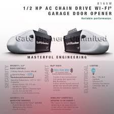 liftmaster 8165w wi fi ac 1 2 hp chain drive contractor garage opener no
