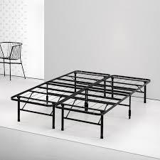 spa sensations by zinus steel smartbase bed frame black multiple sizes com