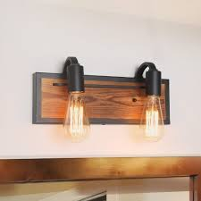 Wood Sconce Light Carbon Loft Astrid 2 Light Rustic Wall Lighting Wall Lamps Wood Wall Sconces