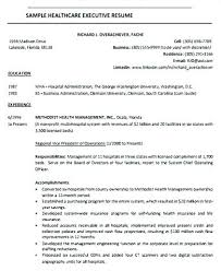 Executive Resumes Templates Fascinating Healthcare Resume Templates Llun