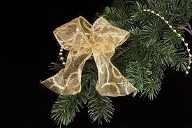 Dekoschleife In Gold Christbaumschleife Mit Eingewebten Draht