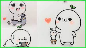 cách vẽ hình cute đơn giản - vẽ hình icon #5 - YouTube