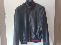 gucci leather jacket. gucci - leather jacket, 100% jacket