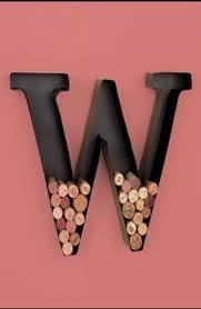 personalized letter w metal wall wine cork holder monogram wall art by ltd com